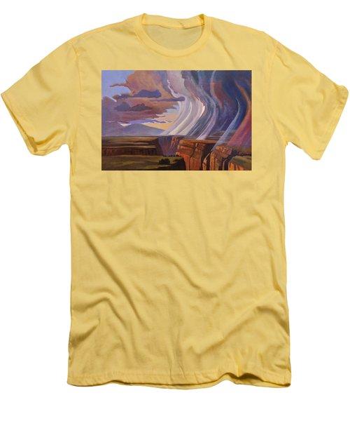 Rainbow Of Rain Men's T-Shirt (Slim Fit) by Art James West