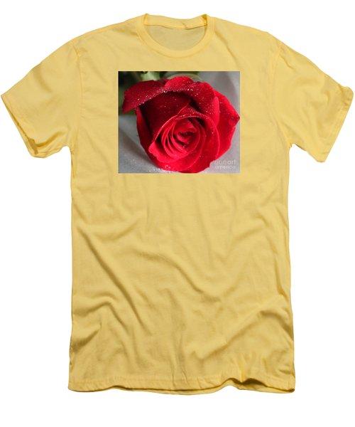 Raindrops On Roses Men's T-Shirt (Slim Fit) by Rita Brown