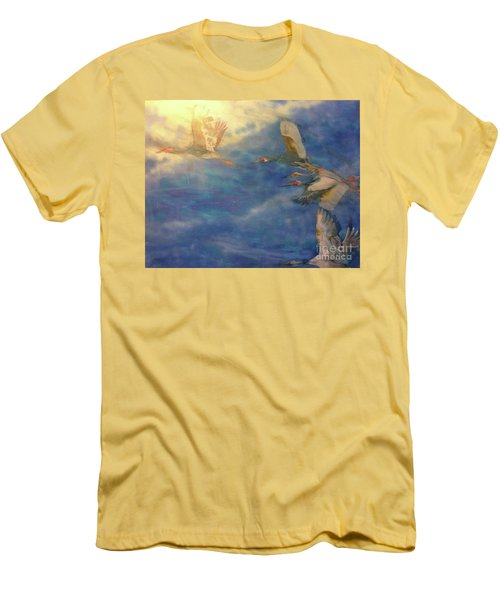 Raining Tears Men's T-Shirt (Slim Fit) by FeatherStone Studio Julie A Miller