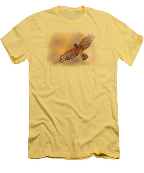Raptor's Afternoon Flight Men's T-Shirt (Slim Fit) by Jai Johnson