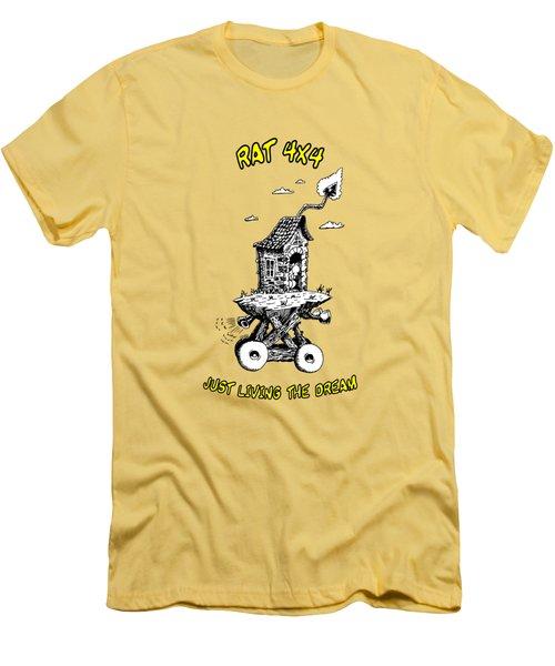 Rat 4x4 - Just Living The Dream Men's T-Shirt (Athletic Fit)
