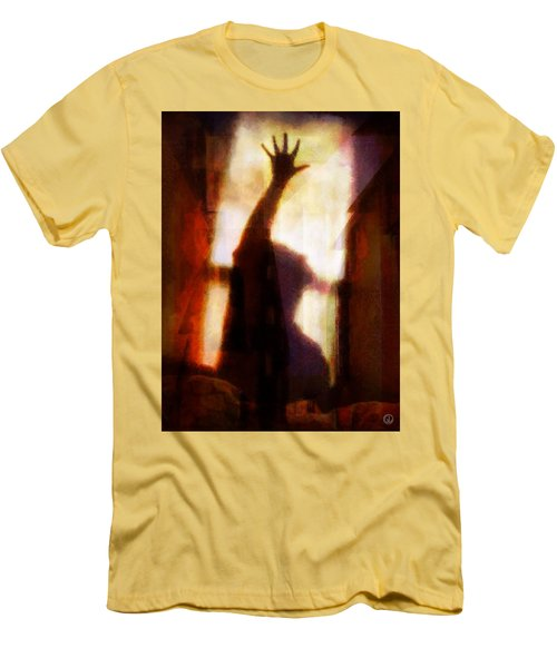 Men's T-Shirt (Slim Fit) featuring the digital art Reaching For The Light by Gun Legler
