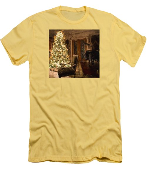 Ready For Christmas Men's T-Shirt (Slim Fit) by Cathy Jourdan