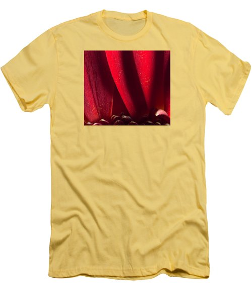 Golden Pollen Red Chrysanthemum Men's T-Shirt (Slim Fit) by John Williams