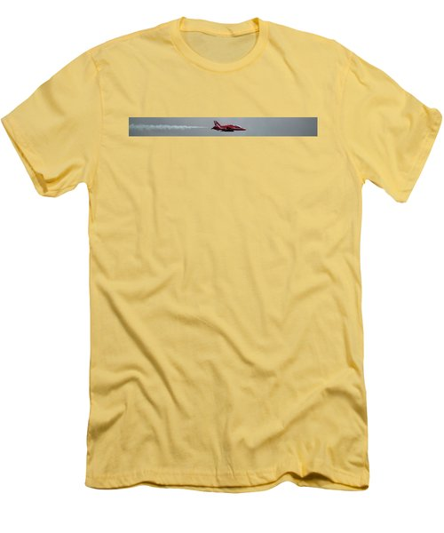 Red Arrow Straight - Teesside Airshow 2016 Men's T-Shirt (Slim Fit) by Scott Lyons
