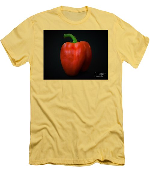 Red Bell Pepper Men's T-Shirt (Slim Fit) by Ray Shrewsberry
