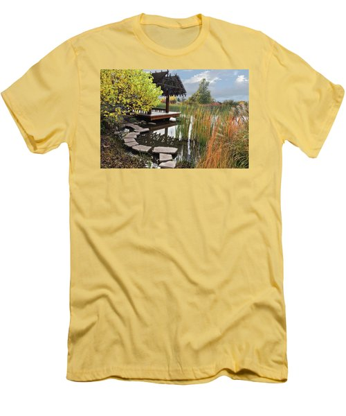 Red Butte Gardens Men's T-Shirt (Slim Fit) by Utah Images