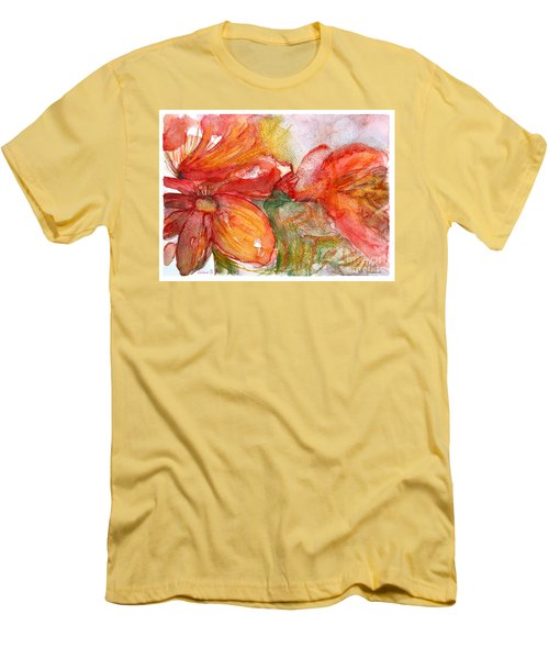 Red Dance Men's T-Shirt (Slim Fit) by Jasna Dragun