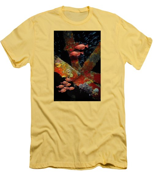 Red Fish On The Rhone Men's T-Shirt (Athletic Fit)