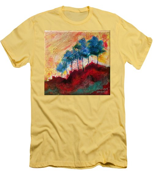 Red Glade Men's T-Shirt (Slim Fit) by Elizabeth Fontaine-Barr
