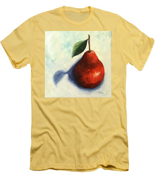 Red Pear In The Spotlight Men's T-Shirt (Slim Fit) by Torrie Smiley