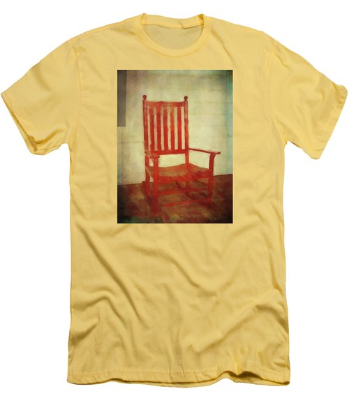 Men's T-Shirt (Athletic Fit) featuring the photograph Red Rocker by Bellesouth Studio