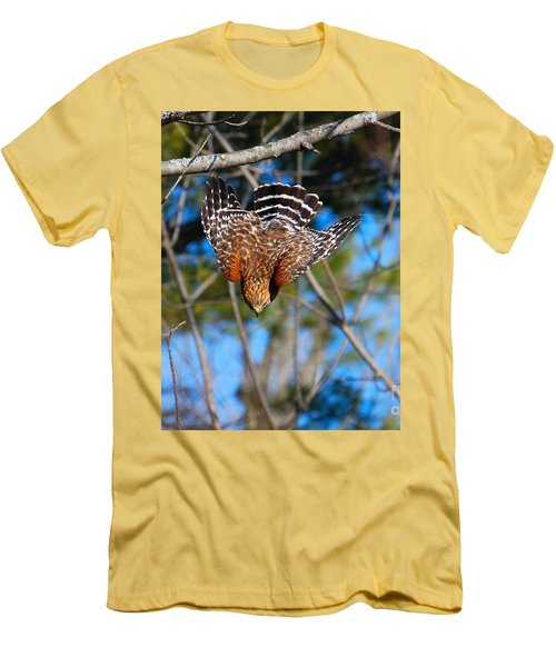 Men's T-Shirt (Athletic Fit) featuring the photograph Red-shouldered Hawk  by Debbie Stahre