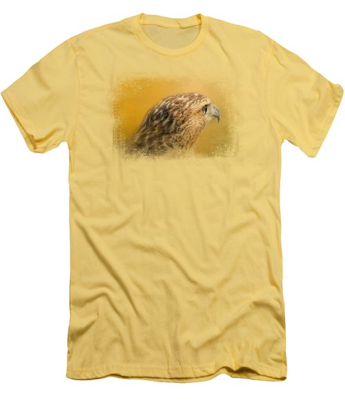 Red Tailed Hawk At Sunset Men's T-Shirt (Slim Fit) by Jai Johnson