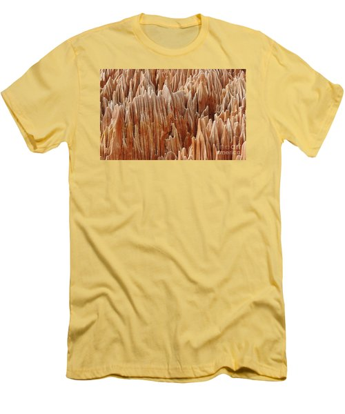 Men's T-Shirt (Slim Fit) featuring the photograph red Tsingy Madagascar 4 by Rudi Prott