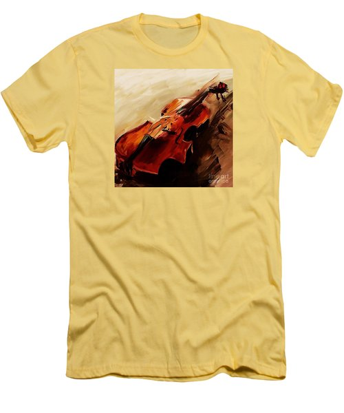 Red Violin  Men's T-Shirt (Athletic Fit)