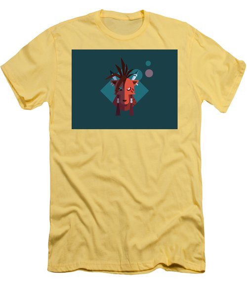 Men's T-Shirt (Slim Fit) featuring the digital art Red Xiii by Michael Myers