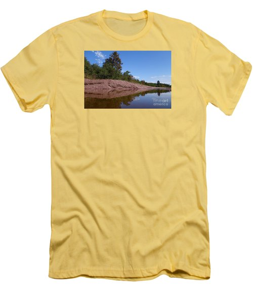 Men's T-Shirt (Slim Fit) featuring the photograph Reflecting On Change by Sandra Updyke