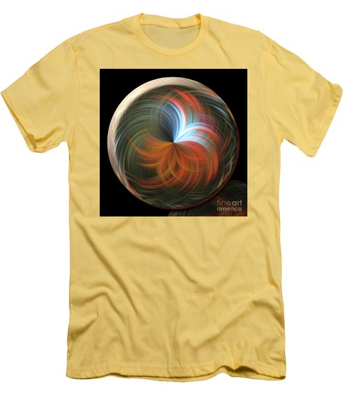 Reflecting Orb Men's T-Shirt (Slim Fit) by Judy Wolinsky
