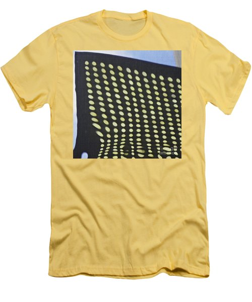 Men's T-Shirt (Slim Fit) featuring the photograph Reflection On 42nd Street 3 by Sarah Loft