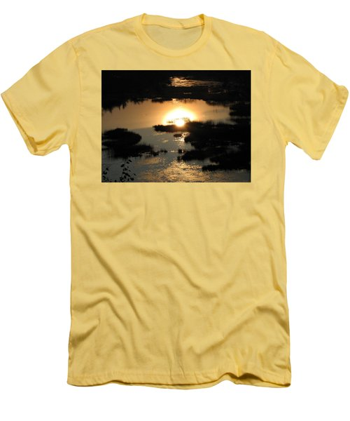 Reflections At Sunset Men's T-Shirt (Slim Fit) by Barbara Yearty