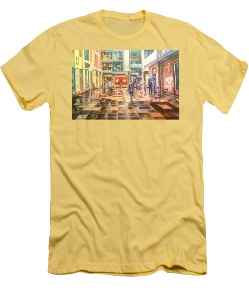Reflections In The Pavement, Brown Street, Manchester Men's T-Shirt (Athletic Fit)