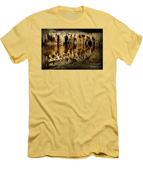 Reflections Of Dream Lake At Luray Caverns Men's T-Shirt (Slim Fit) by Paul Ward