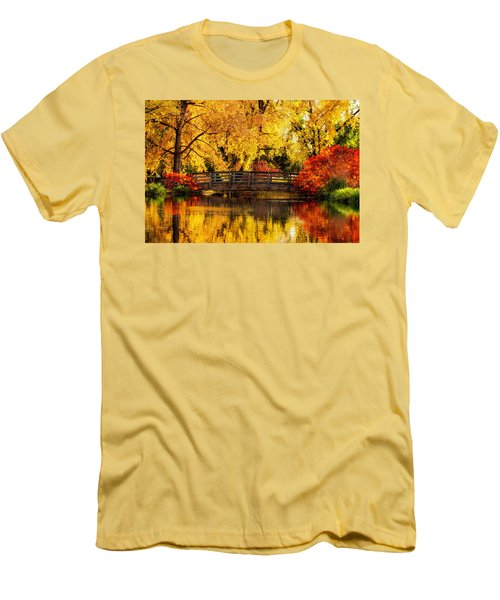 Men's T-Shirt (Slim Fit) featuring the photograph Reflections Of Fall by Kristal Kraft