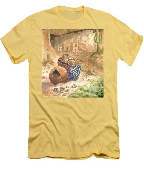 Men's T-Shirt (Slim Fit) featuring the painting Remnants Of The Ancient Ones by Marilyn Smith