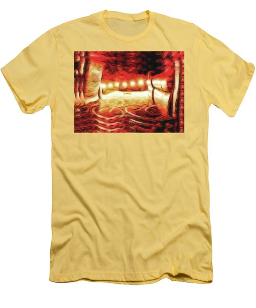 Men's T-Shirt (Athletic Fit) featuring the digital art Reservations - Row C by Wendy J St Christopher