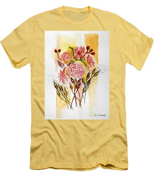 Retro Florals Men's T-Shirt (Athletic Fit)
