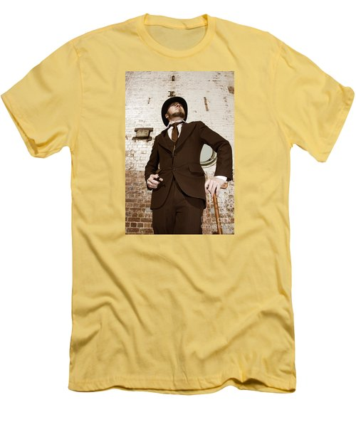 Men's T-Shirt (Athletic Fit) featuring the photograph Retro Nobel Man by Jorgo Photography - Wall Art Gallery