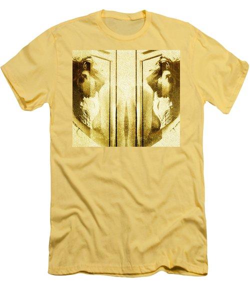 Reversed Mirror Men's T-Shirt (Slim Fit) by Andrea Barbieri