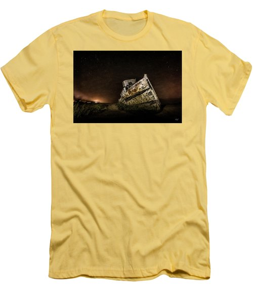 Men's T-Shirt (Slim Fit) featuring the photograph Reyes Shipwreck by Everet Regal