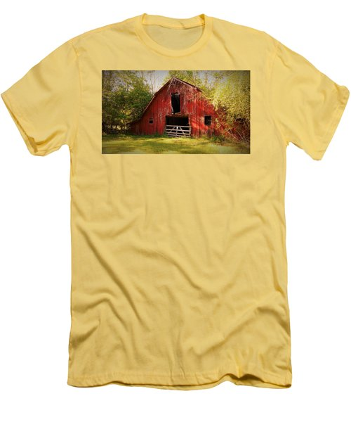 Men's T-Shirt (Slim Fit) featuring the photograph Richton Barn I by Lanita Williams