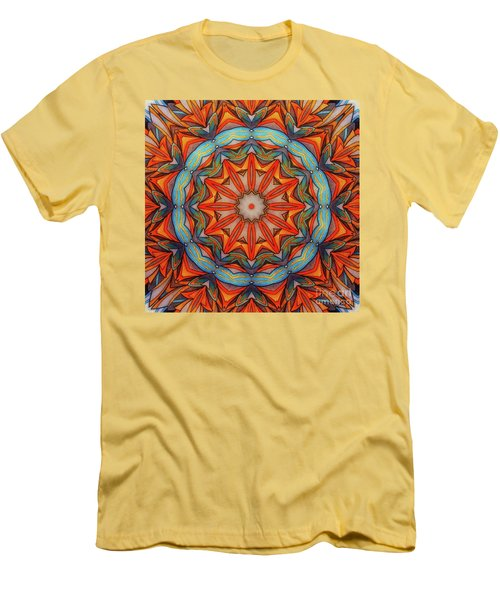 Ring Of Fire Men's T-Shirt (Slim Fit) by Mo T