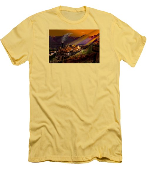 Rio Grande Early Morning Gold Men's T-Shirt (Slim Fit) by J Griff Griffin