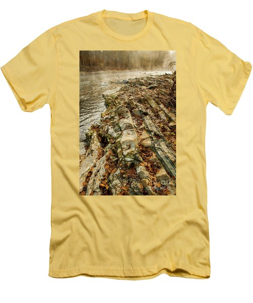Men's T-Shirt (Slim Fit) featuring the photograph River Bank by Iris Greenwell