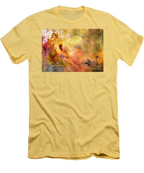 Men's T-Shirt (Slim Fit) featuring the photograph Rock Of Ages by Annie Zeno