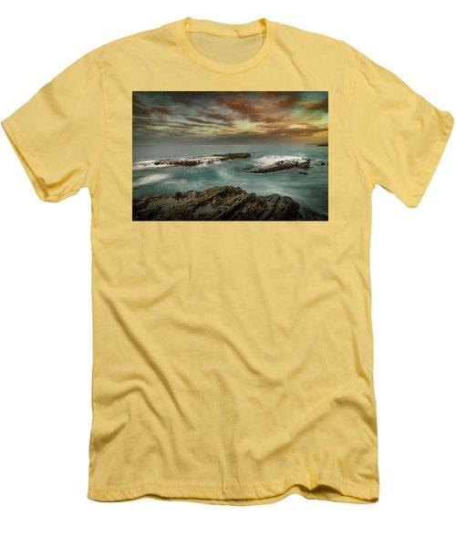 Rocky Shores At Victoria Beach Men's T-Shirt (Athletic Fit)