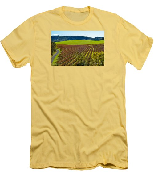 Rolling Hills And Vineyards Men's T-Shirt (Athletic Fit)