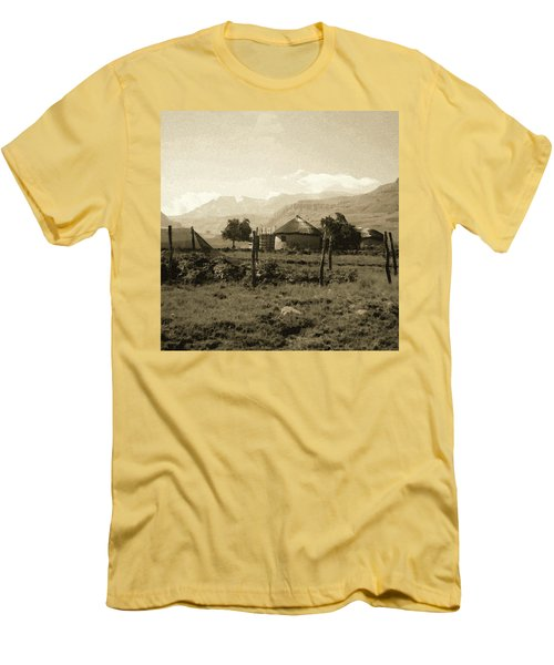 Rondavel In The Drakensburg Men's T-Shirt (Athletic Fit)