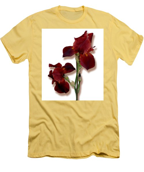 Root Beer Irises Men's T-Shirt (Slim Fit) by Tara Hutton