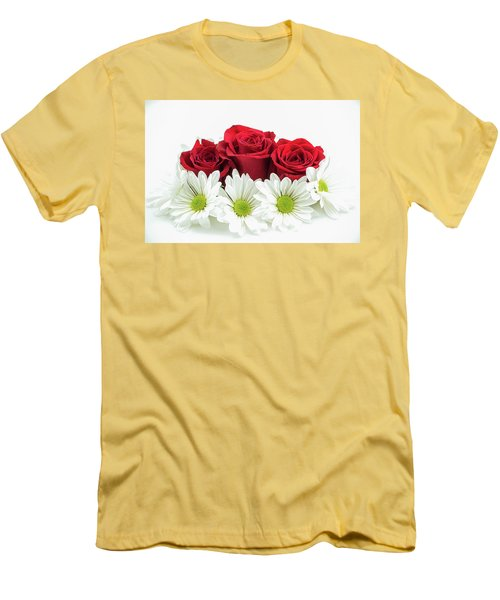 Roses And Daisies Men's T-Shirt (Athletic Fit)