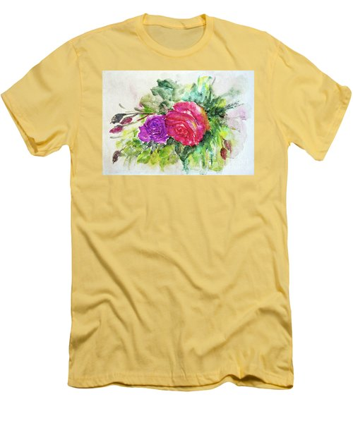 Roses For You Men's T-Shirt (Slim Fit) by Jasna Dragun