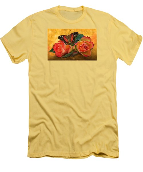 Roses In Golden Light 2 Men's T-Shirt (Athletic Fit)