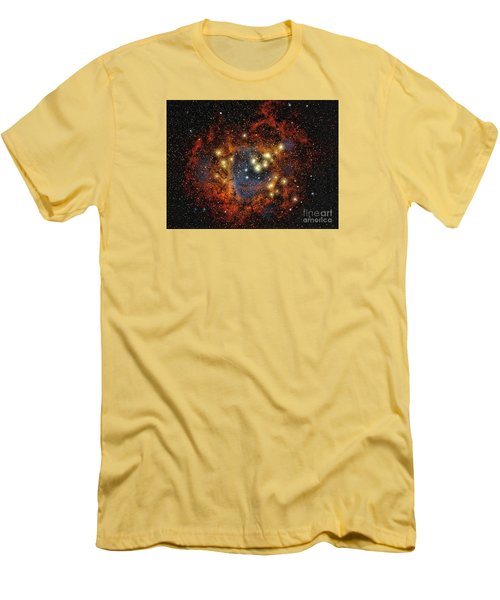 Rosette Nebula  ... Men's T-Shirt (Slim Fit) by Chuck Caramella