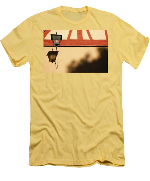 Men's T-Shirt (Slim Fit) featuring the photograph Rotenburg Lantern by KG Thienemann