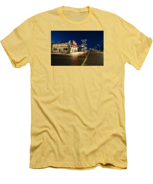 Route 66 Pier Burger Men's T-Shirt (Slim Fit) by John McGraw