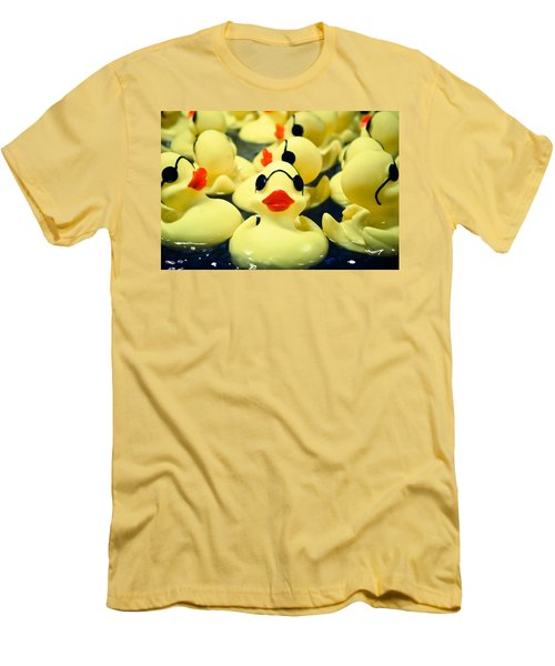 Rubber Duckie Men's T-Shirt (Slim Fit) by Colleen Kammerer